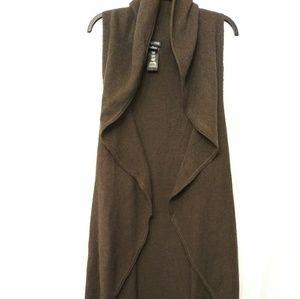 City Chic Open Front Gilet Vest